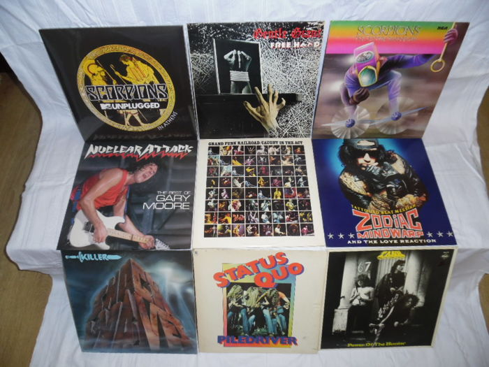 Hardrock & Heavy Metal - In 9 Albums - Total 12 Records - u.o. Rare still Sealed - Luxery Edition of Scorpions - 3 DBLP & Gentle Giant - Scorpions -
