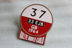 Rally Monte Carlo 37 GB Vintage Car Emblem