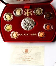 Vatican - euro 2004 Vatican original KMS Vatican in case with medal, proof