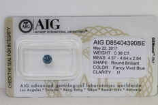 Blue  diamond – 0.38 ct – i1