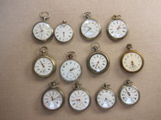 12 antique pocket watches for repair