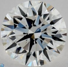 1.00CT E/VVS2 GIA Certified round brilliant cut diamond - Laser inscribed - Original image 10X