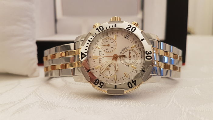 Tissot PRS 200 – men's chronograph – box and documents – 2007.