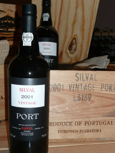 2001 Quinta do Noval 'Silval' Vintage Port - 2 x 6 OWC - 12 bottles (75cl) total
