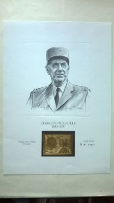 World 1971 - tribute to General de Gaulle