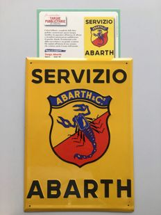 ABARTH metal banner in relief, 1990s