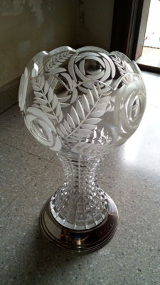 Silver and Crystal vase