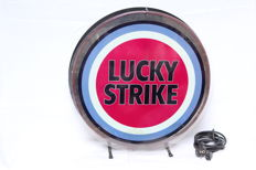 Lucky Strike filters cigarette tobacco retail store embossed metal tin sign -second half 20th century