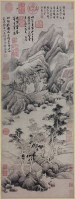 A very beautiful Ming Dynasty style landscaping painting - China - End of 20th century