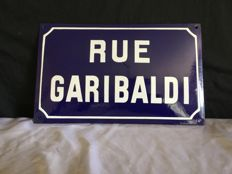 Enamel curved street sign year 50 France