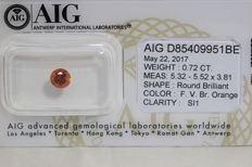 Orange Diamond - 0.72 ct - SI 1 - (Colour Treated) - No Reserve Price