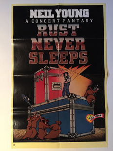 """Neil Young a Concert Fantasy """"Rust Never Sleeps"""" - movie poster"""