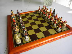 "Chess in resin ""Napoleon and the British."
