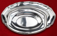 2 superb, silver plated, hallmarked, art deco dishes