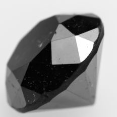 Deep Jet Black Diamond – 0.96 ct