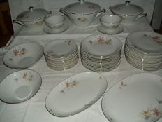 Large - Edelstein Bavaria - dining services - stamped and numbered - Art Deco - 45 items