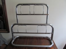 Large double paper roll holder of chrome, shop material 1960