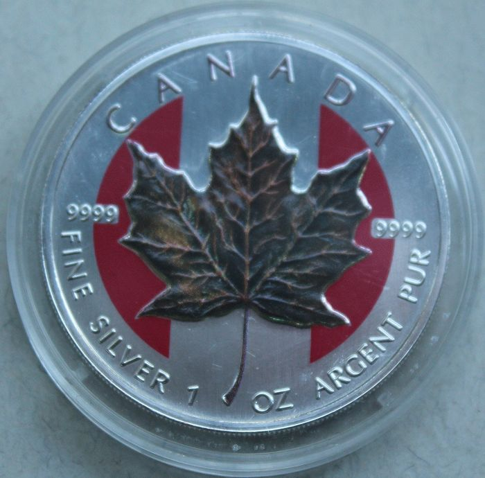 "Canada - $5 - 1999 Maple Leaf - 4 seasons ""Winter"" - 1 oz"