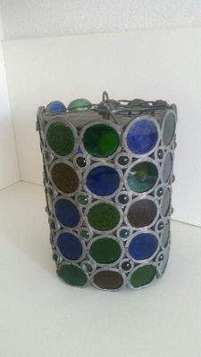 Old and heavy stained glass lamp