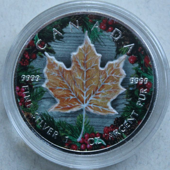 Kanada - 5 Dollars 2016 'Maple Leaf - Winter' - 1 oz silber