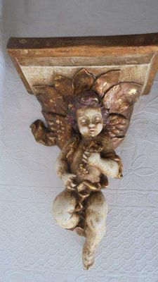 Fabulous rare antique Mísula with Angel. First quarter 20th Century - Portugal