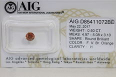 Orange Diamond - 0.50 ct - I1 - No Reserve Price
