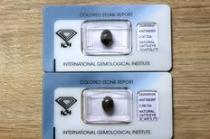 Two cat's eye scapolites of 4.43 ct in total – No Reserve Price