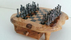 Tin chess set Warriors and Soldiers