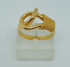 Gold 18k Ring classic ancient Greek design - 51.5 (EU)