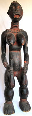 Very rare figure of a dancing princess at the royal court - Bangwa -  Cameroon