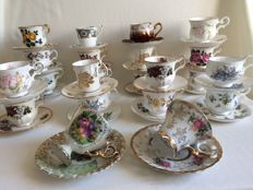 38 piece lot English porcelain, 4 parts French, 2 parts Chinese.
