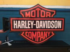 Spectacular luminous sign of HARLEY DAVIDSON. 20th century