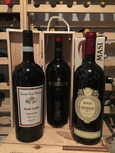Valpolicella magnums; 2011 Masi Campoflorin, 2013 Bertani Secco & 2014 Tenuta S.Antonio Ripasso - 3 magnums (150cl) in original cases