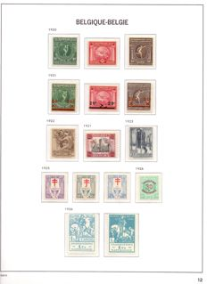 Belgium 1920/1949 – Advanced collection in Davo I album with cassette – between OBP 179 and 802.