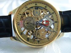 4 Louis Ulysse Chopard -  Masonic Skeleton Men's Wristwatch - between 1905 and 1910