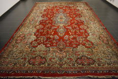 High-quality hand-knotted Persian palace carpet, Kerman Lawer, made in Iran, 260 x 380 cm