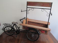 Showcase model - fruits and vegetables cart tricycle bicycle