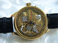 10. Croissant - Skeleton Men's marriage watch - 1905-1910