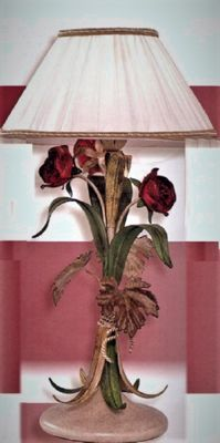 Wrought iron table light made and painted entirely by hand, Florentine style - Selection -