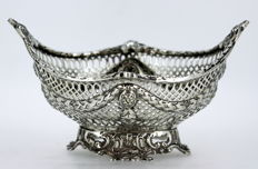 Victorian solid sterling silver bonbon dish, Chester 1897, George Nathan & Ridley Hayes