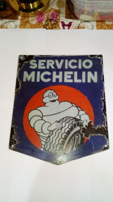 Advertising metal plate of Michelin service