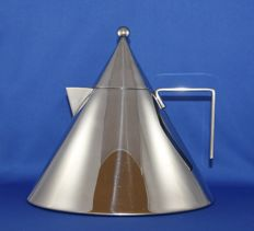 Aldo Rossi for Alessi - Memphis style stainless steel kettle