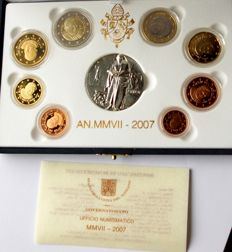 Vatican - euro 2007 Vatican original KMS Vatican in case with medal, proof