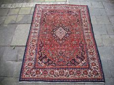 Semi antique, hand-knotted, Persian carpet, Kashan, 202 x 135, Iran, around 1930
