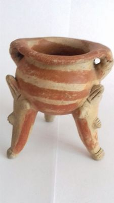 Pre-Columbian pottery votive pot from the Nayarit culture - 100 cm