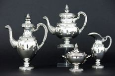 Neoclassical silver coffee and teaset, Italy, 20th century