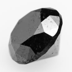 Deep Jet Black Diamond – 1.71 ct
