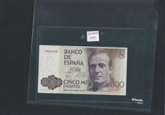 Europe - Spain/Italy - 5,000 pesetas 1979 / 10,000, 50,000 and 100,000 lira