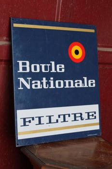 BOULE NATIONALE - very rare sign - Belgium 1970