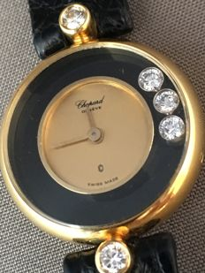 Chopard Happy Diamonds - 18 karaat geelgoud en Diamanten -- Dameshorloge -- Ca. jaren 90
